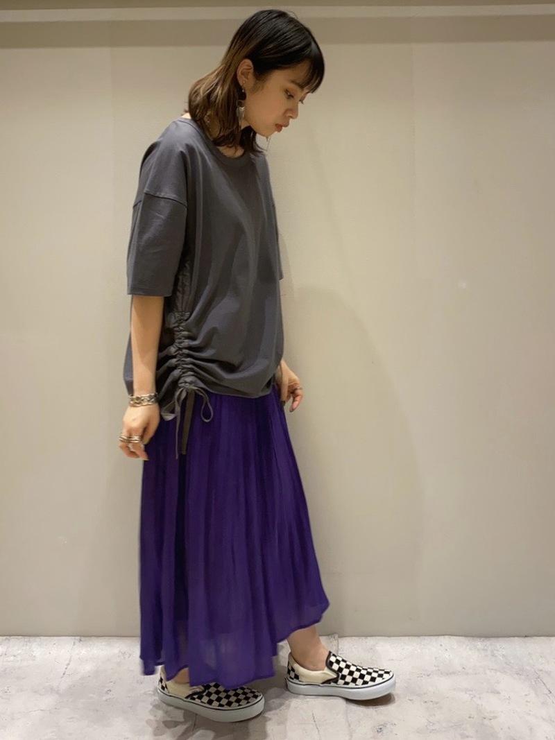 シャイニースカート ロングスカート カラースカート チュニック Tシャツ