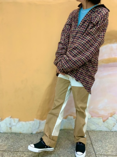 Flannel Check Loose Shirts