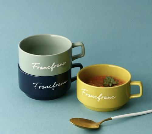 ロゴスープカップ3種類寒色