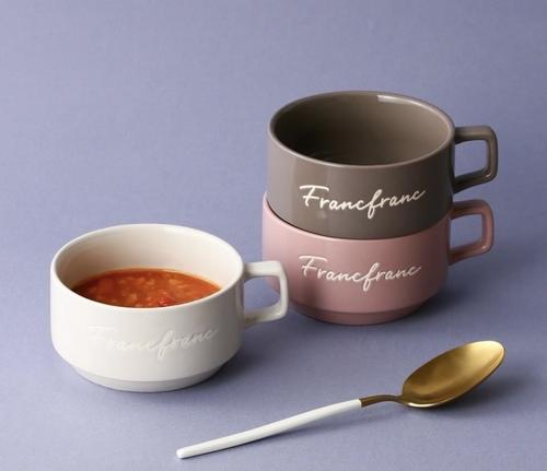 ロゴスープカップ3種類暖色