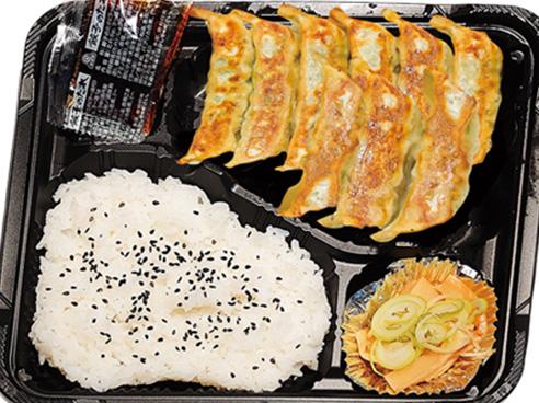 餃子の弁当の画像